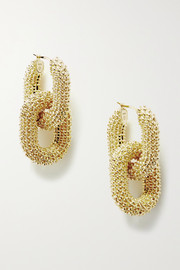 Textured gold-tone earrings