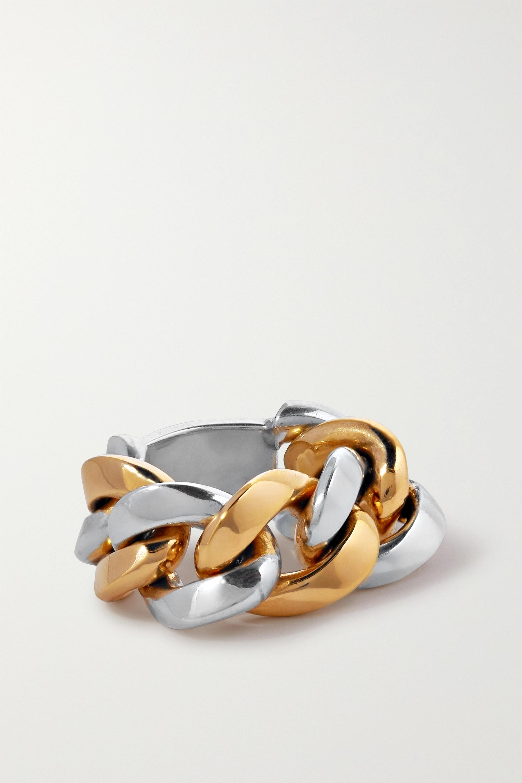 Bottega Veneta Silver and gold-tone ring