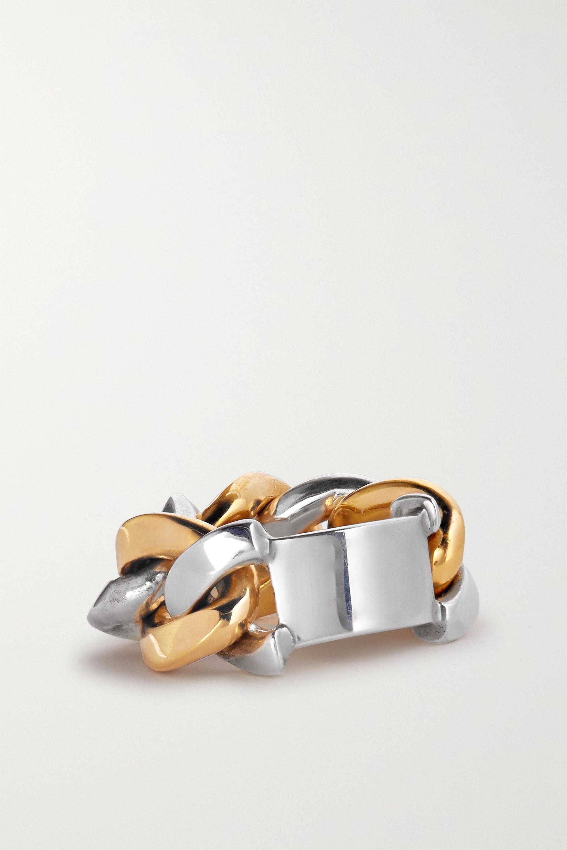 Bottega Veneta 银色和金色金属戒指