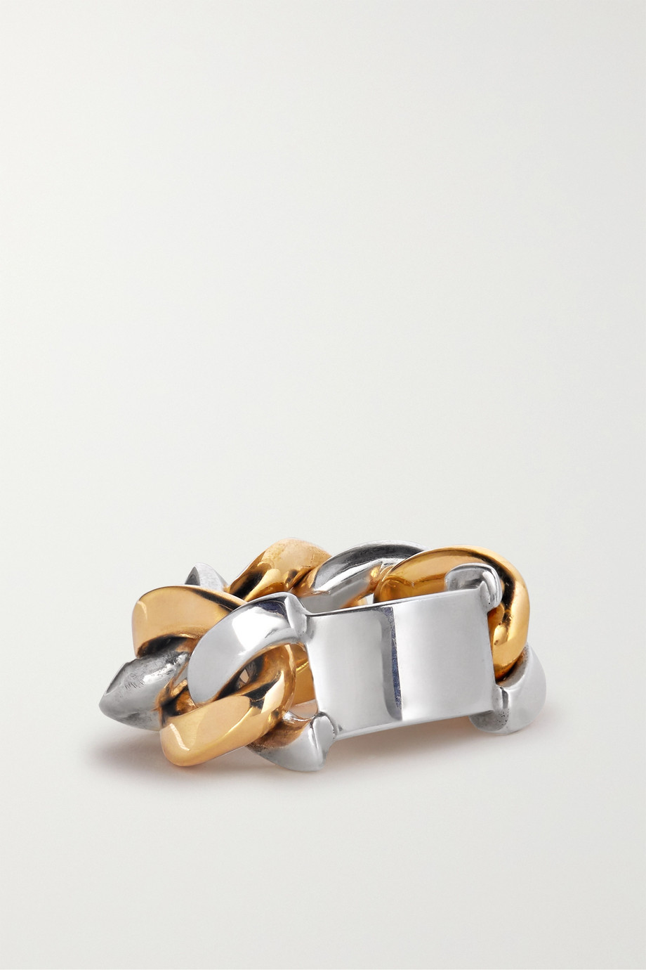 Bottega Veneta Silver and gold-tone ring
