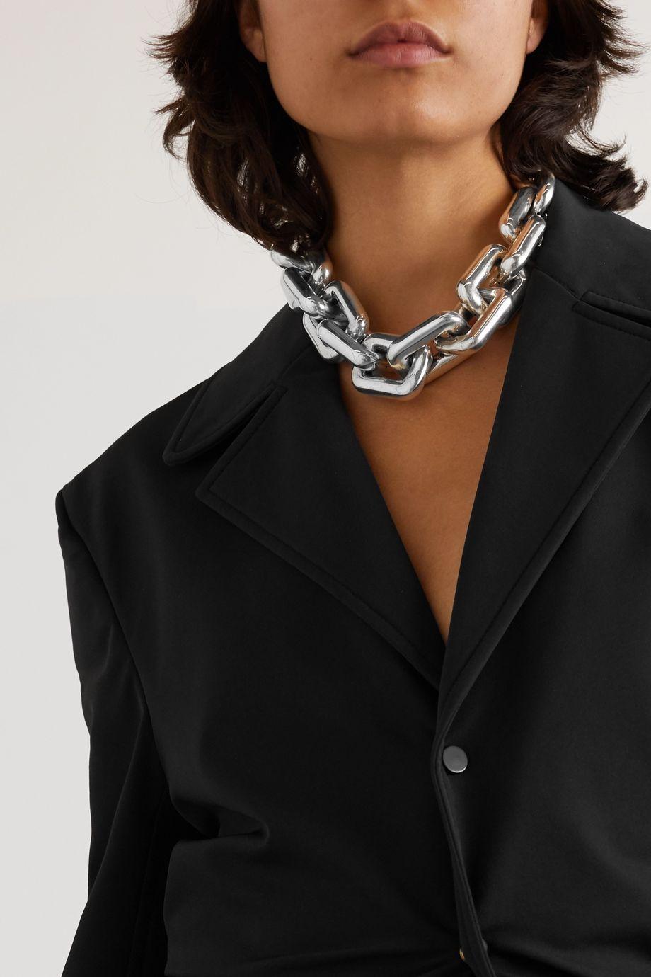 Bottega Veneta Silver-tone necklace