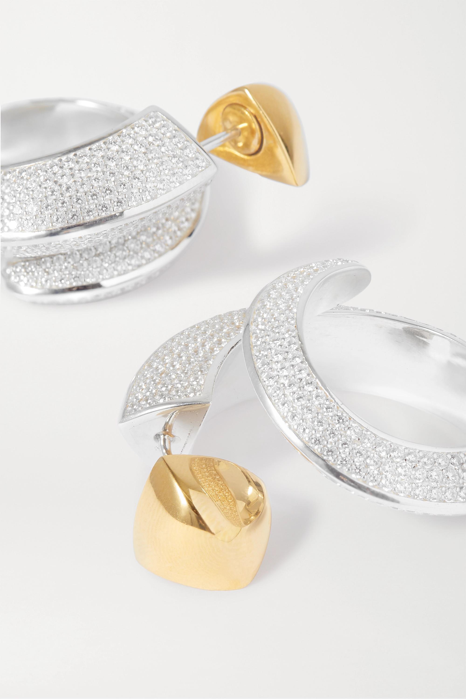 Bottega Veneta Silve-tone crystal earrings