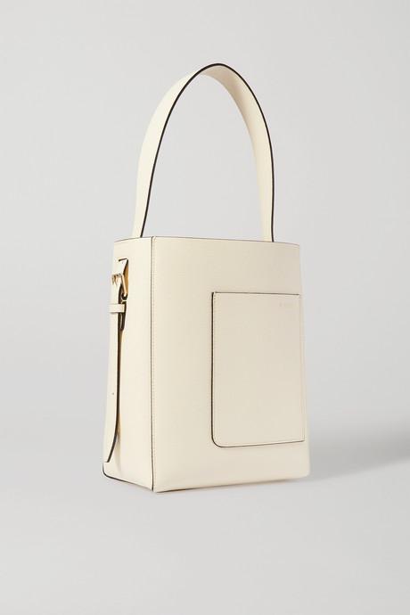 Off-white Secchiello small textured-leather tote   Valextra sPqqoH