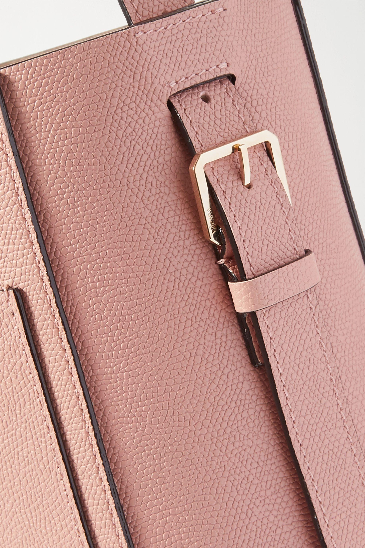 Valextra Secchiello 印花纹理皮革手提包