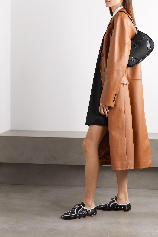 Prada Two-tone woven leather brogues