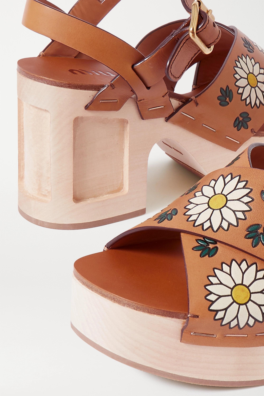 Miu Miu Printed leather sandals