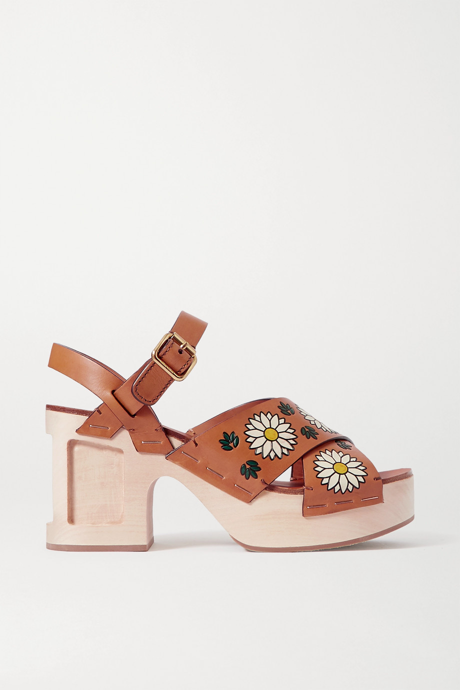 Miu Miu Printed leather sandals