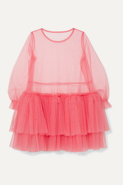 Tiered tulle mini dress