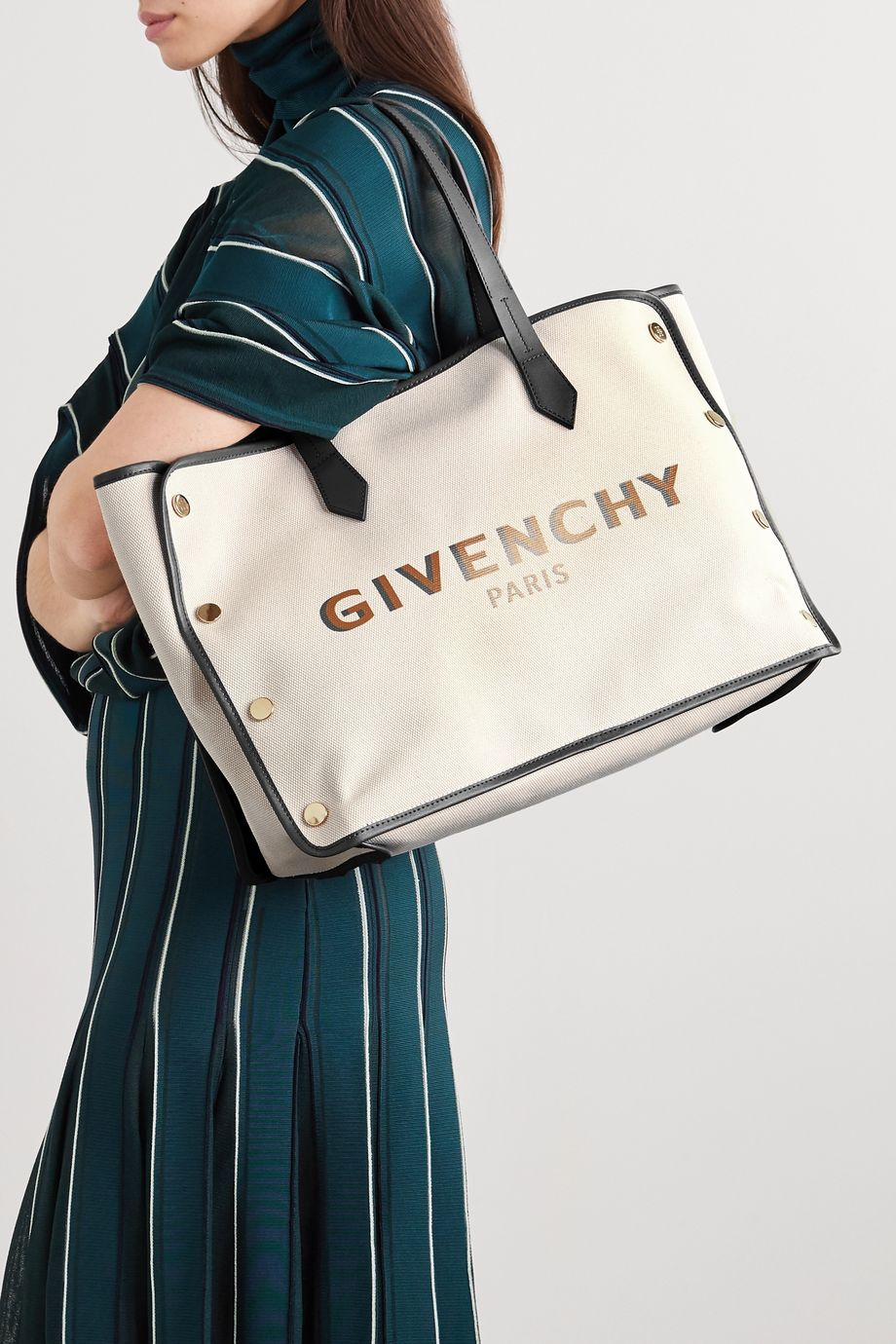 Givenchy Sac à main en toile de coton imprimée à finitions en cuir Bond