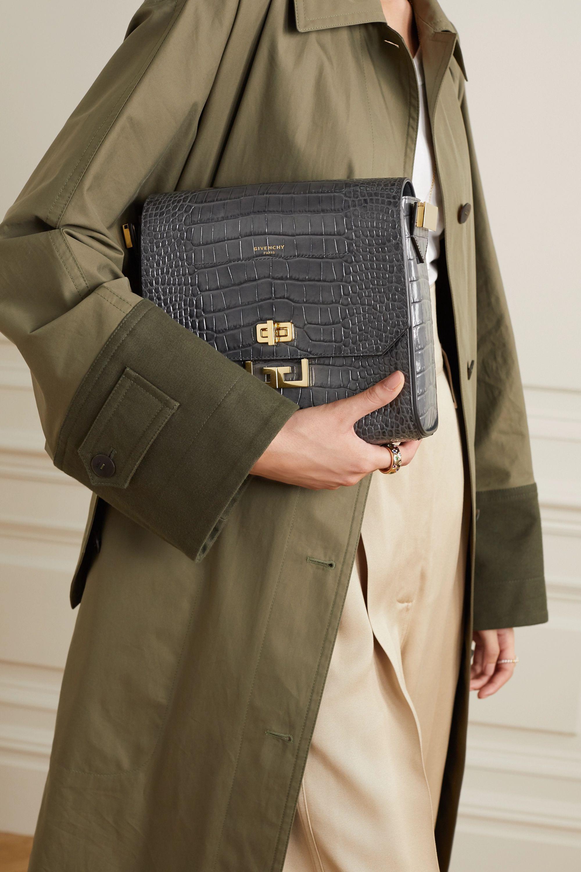 Givenchy Eden medium croc-effect leather shoulder bag