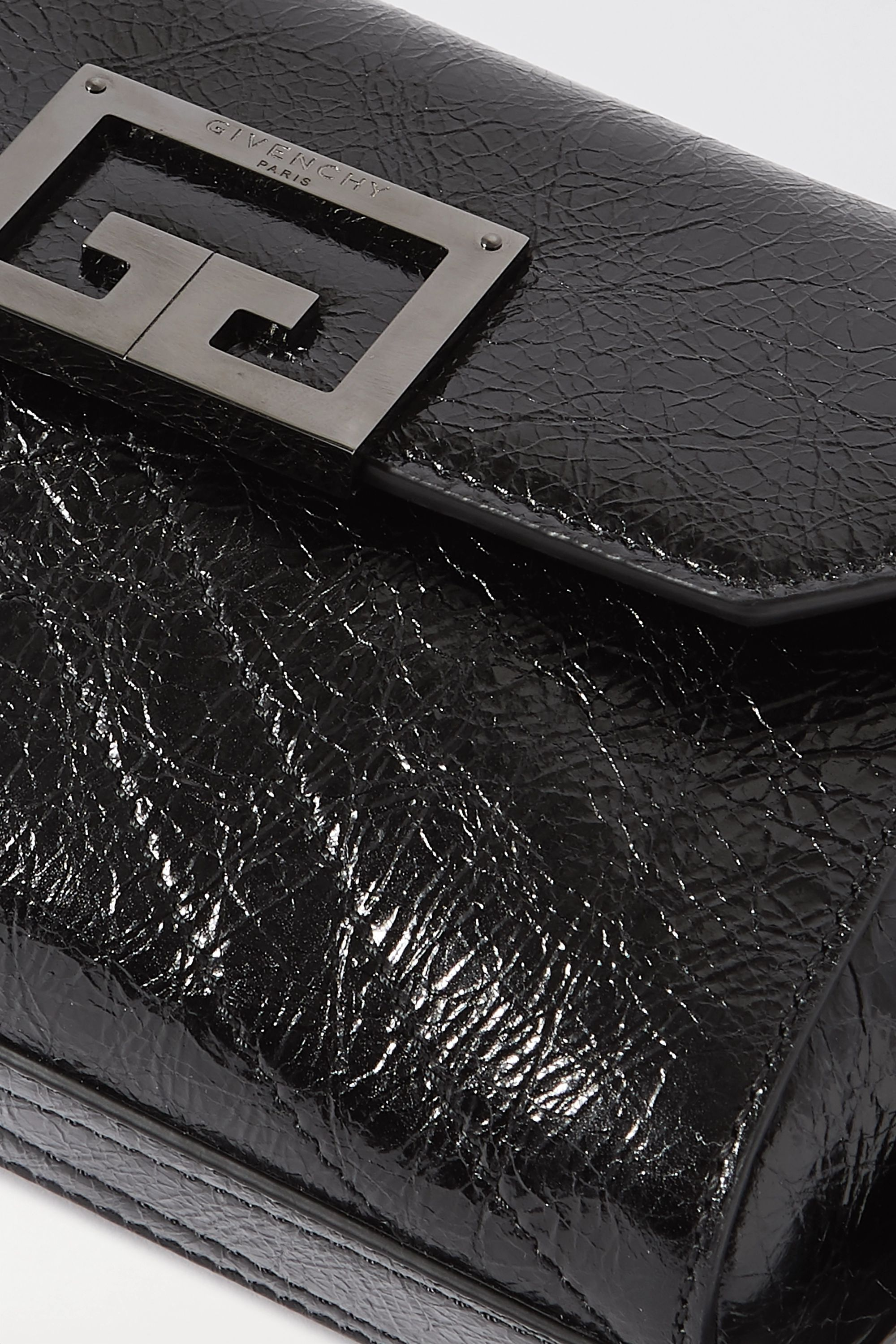 Givenchy ID quilted crinkled glossed-leather belt bag