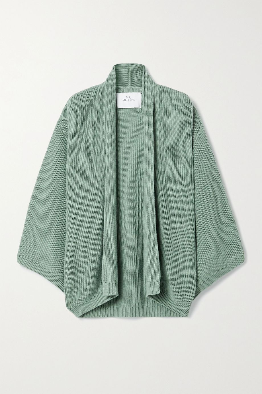 I Love Mr Mittens Oversized ribbed cotton cardigan