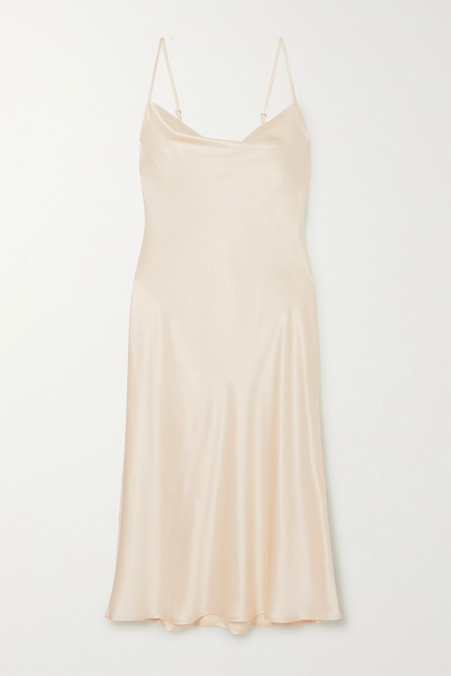 Sleeper Draped silk-satin midi dress