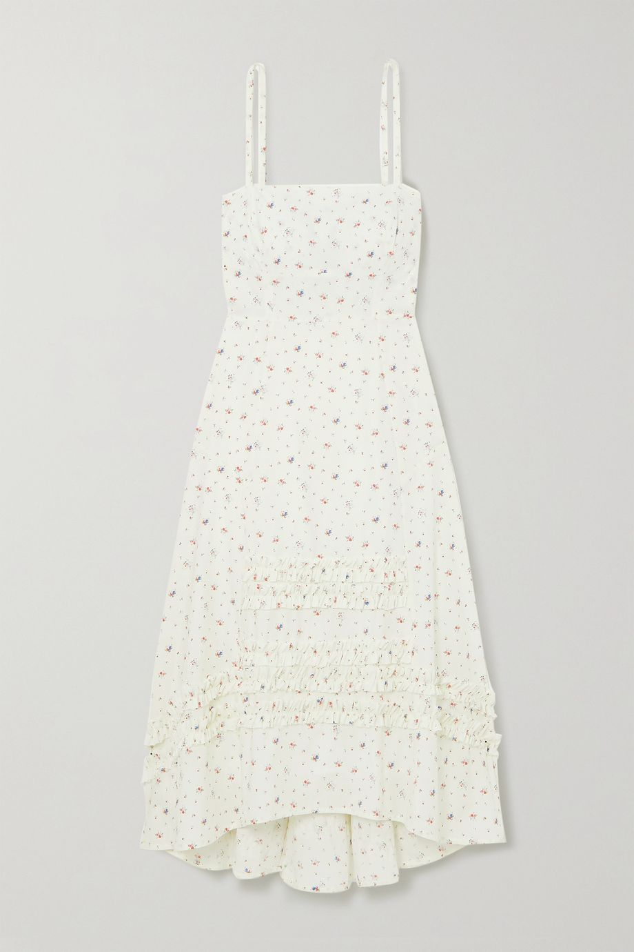 Molly Goddard Ruffled floral-print cotton midi dress