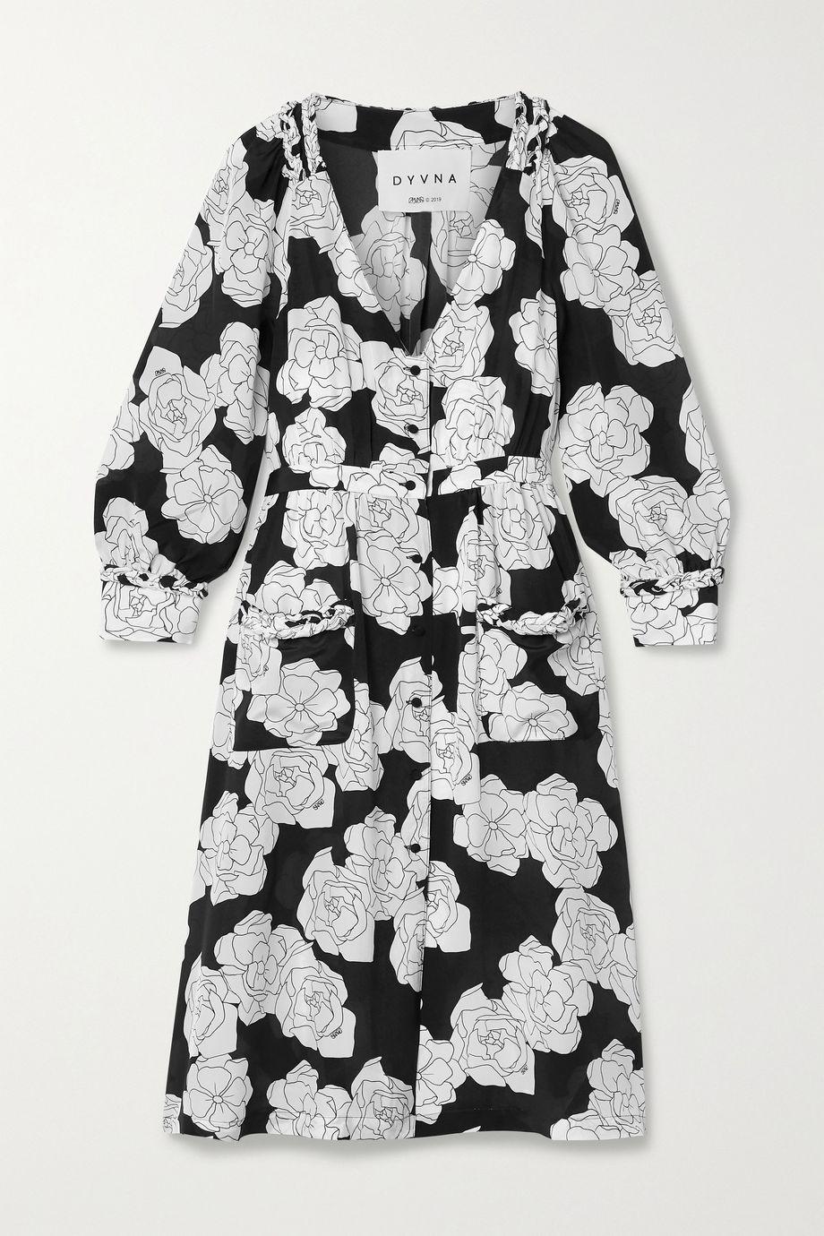 DYVNA Floral-print silk crepe de chine dress