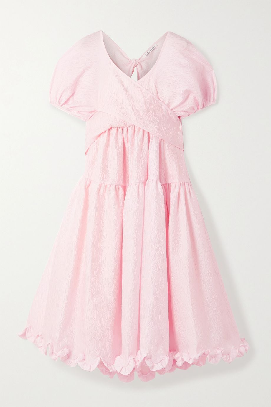 Cecilie Bahnsen Ammi open-back tiered ruffled cloqué midi dress