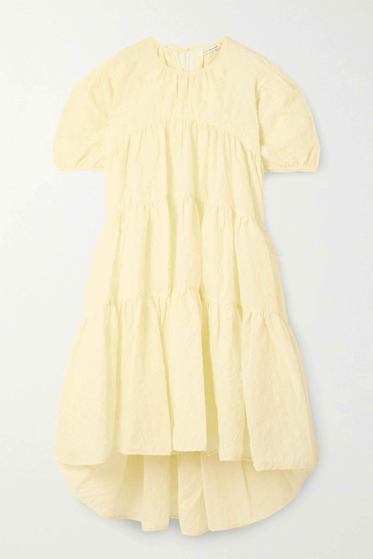 Cecilie Bahnsen Esme tiered crinkled-poplin dress