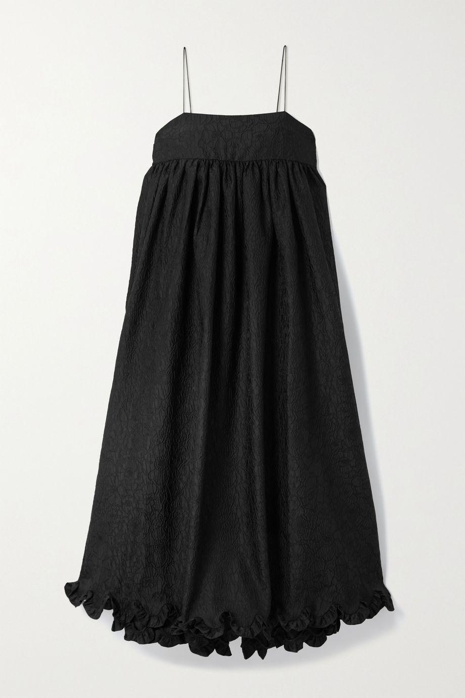 Cecilie Bahnsen Kristal gathered ruffled cloqué midi dress