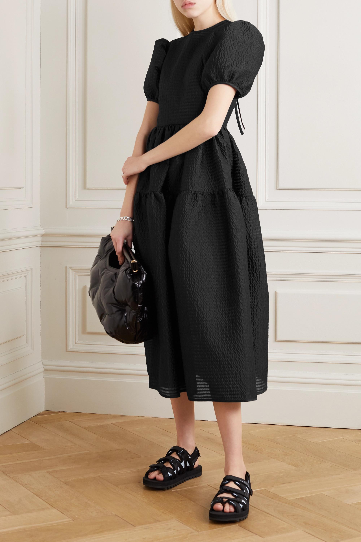 Cecilie Bahnsen Katja tiered cloqué midi dress