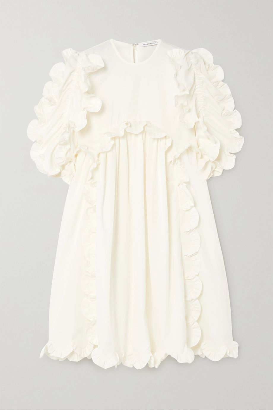 Cecilie Bahnsen Keira scalloped cotton-cloqué dress