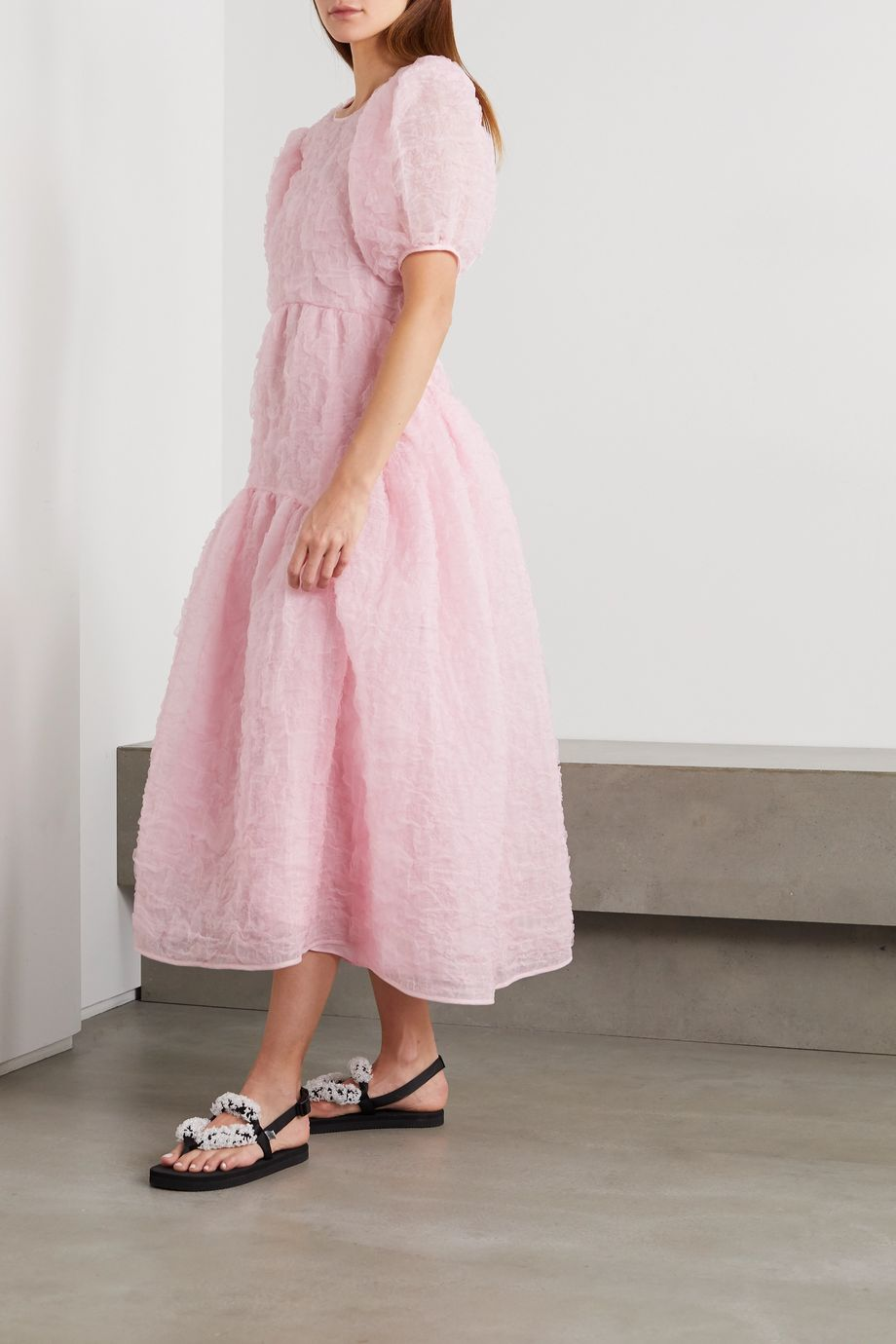 Cecilie Bahnsen Katrine open-back crinkled silk-blend organza gown