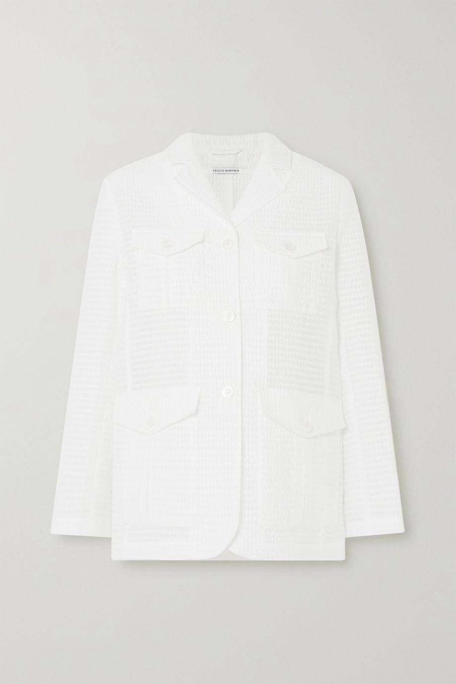 Cecilie Bahnsen Karina seersucker jacket