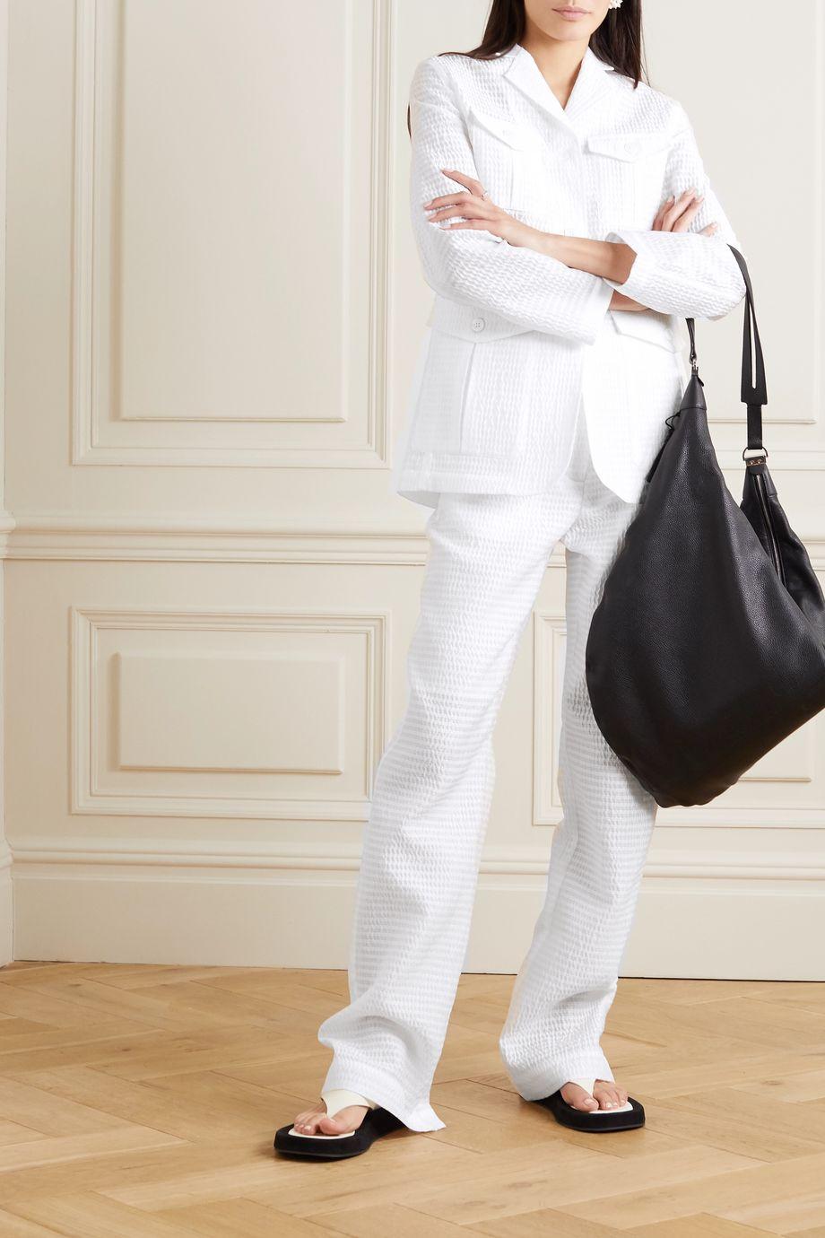 Cecilie Bahnsen Sonja seersucker wide-leg pants
