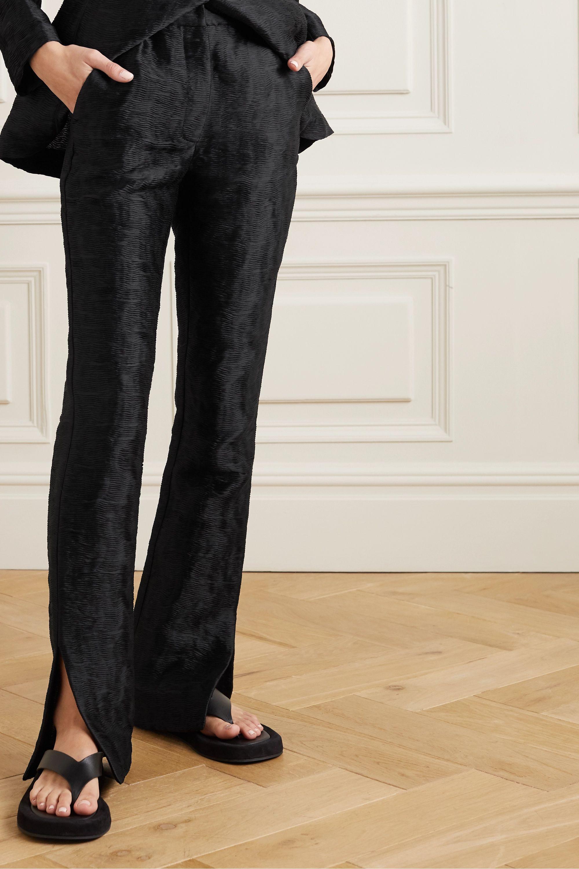 Cecilie Bahnsen Elisabeth matelassé satin straight-leg pants