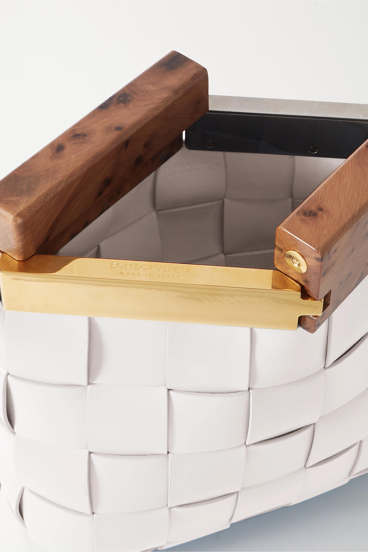Bottega Veneta 木料 Intrecciato 皮革手拿包