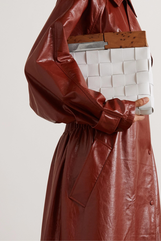 Bottega Veneta Wood and intrecciato leather clutch