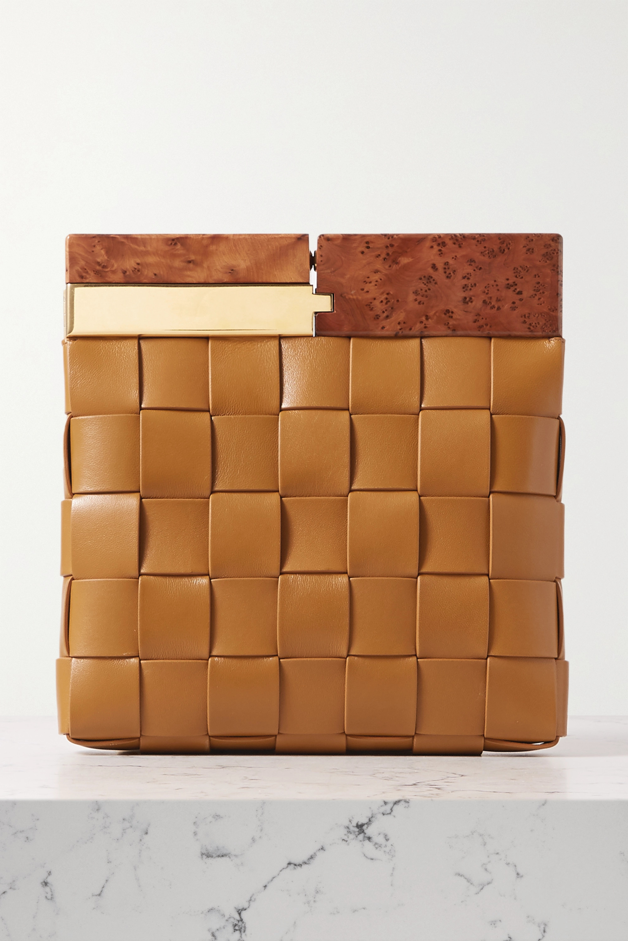 Bottega Veneta Pochette en cuir intrecciato The Snap