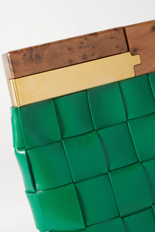 Bottega Veneta The Snap Clutch aus Intrecciato-Leder