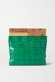 Bottega Veneta The Snap intrecciato leather clutch