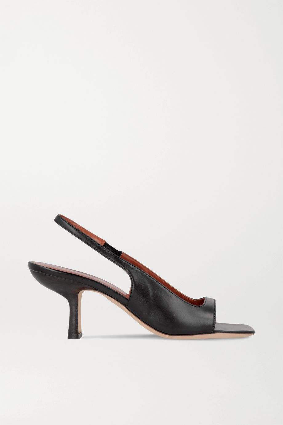 BY FAR Lopez leather slingback sandals