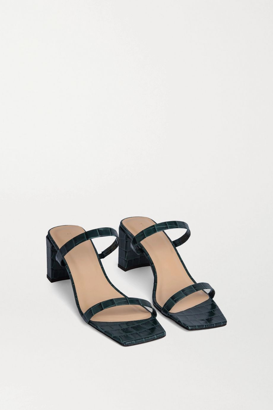 BY FAR Tanya croc-effect leather mules