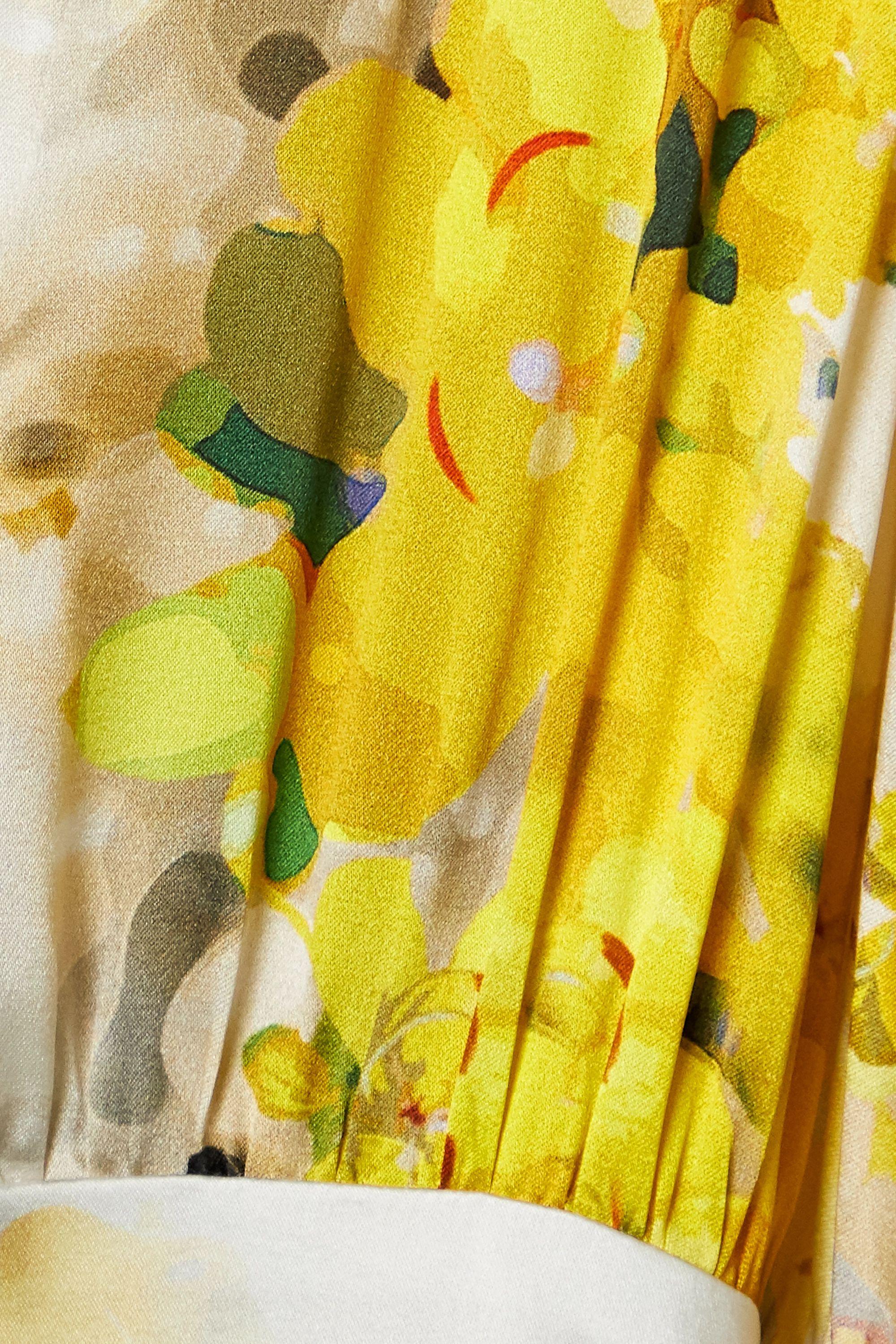 Silvia Tcherassi Felicity belted floral-print silk-blend satin gown