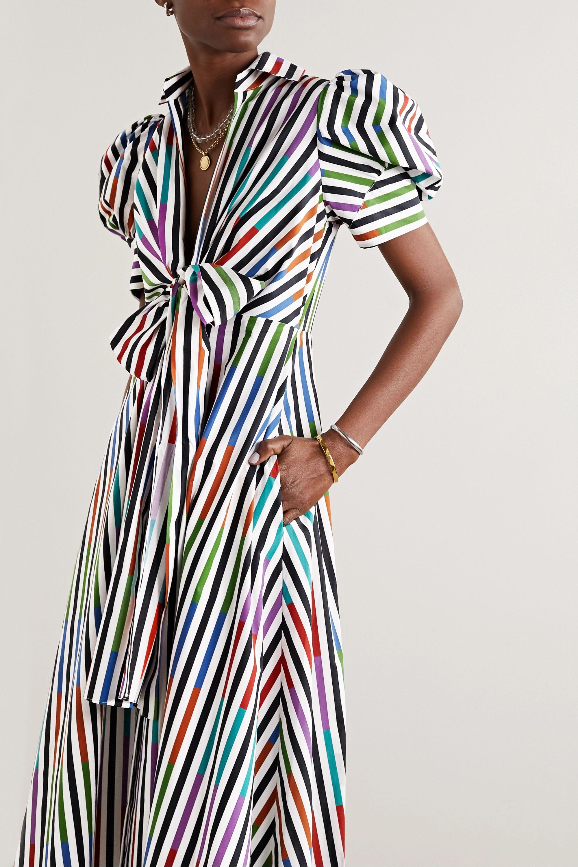 Silvia Tcherassi Roopal tie-front striped cotton-poplin midi shirt dress
