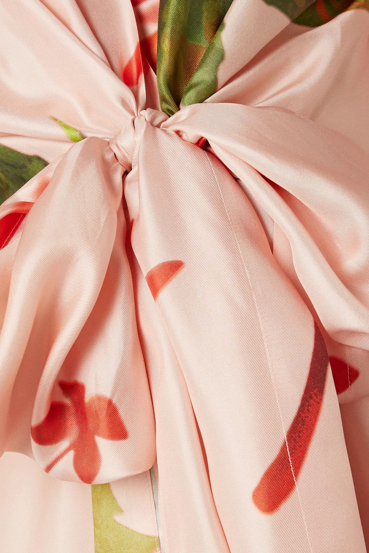 Silvia Tcherassi Lirio polka-dot silk-blend satin midi dress