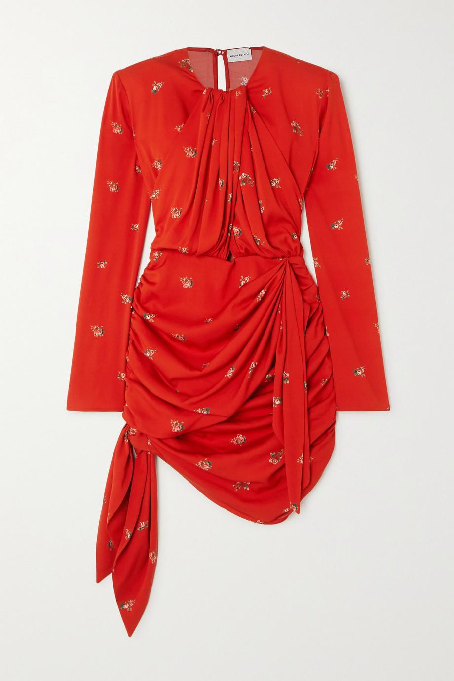 Magda Butrym San Remo draped floral-print silk-blend mini dress