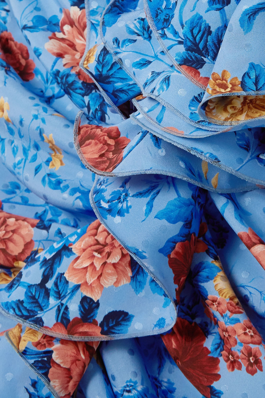 Magda Butrym Burgos ruffled floral-print silk-satin mini dress
