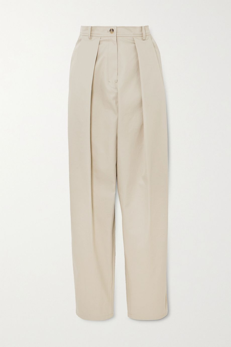 Magda Butrym Harwich pleated cotton-twill tapered pants