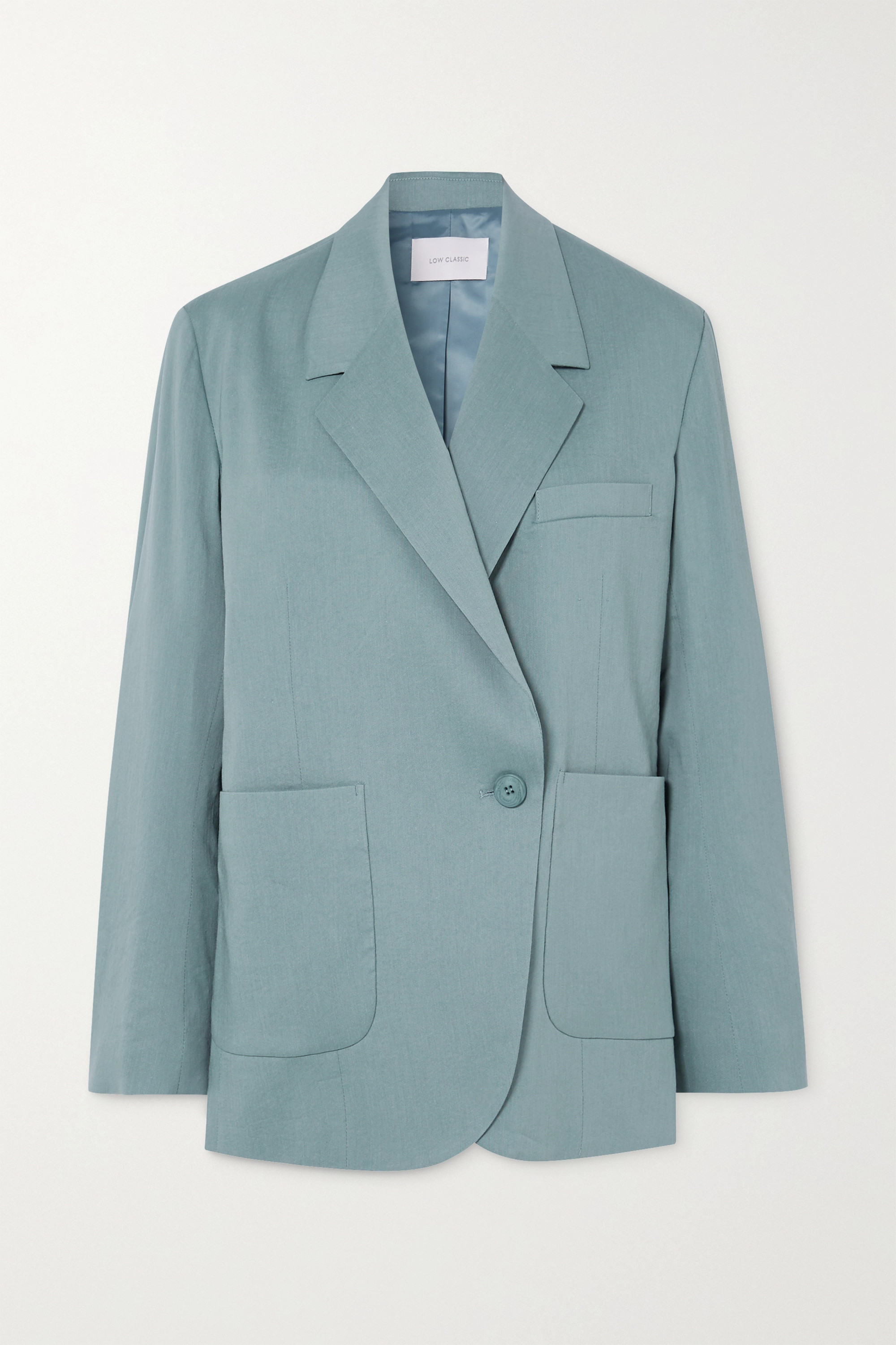 LOW CLASSIC Double-breasted woven blazer