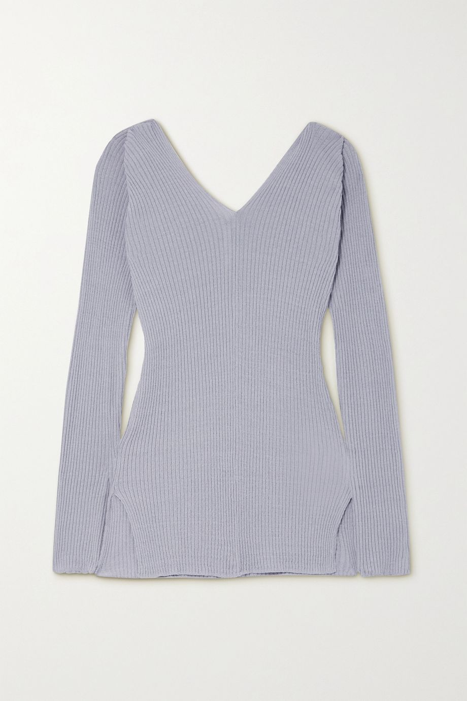 LOW CLASSIC Ribbed linen-blend sweater