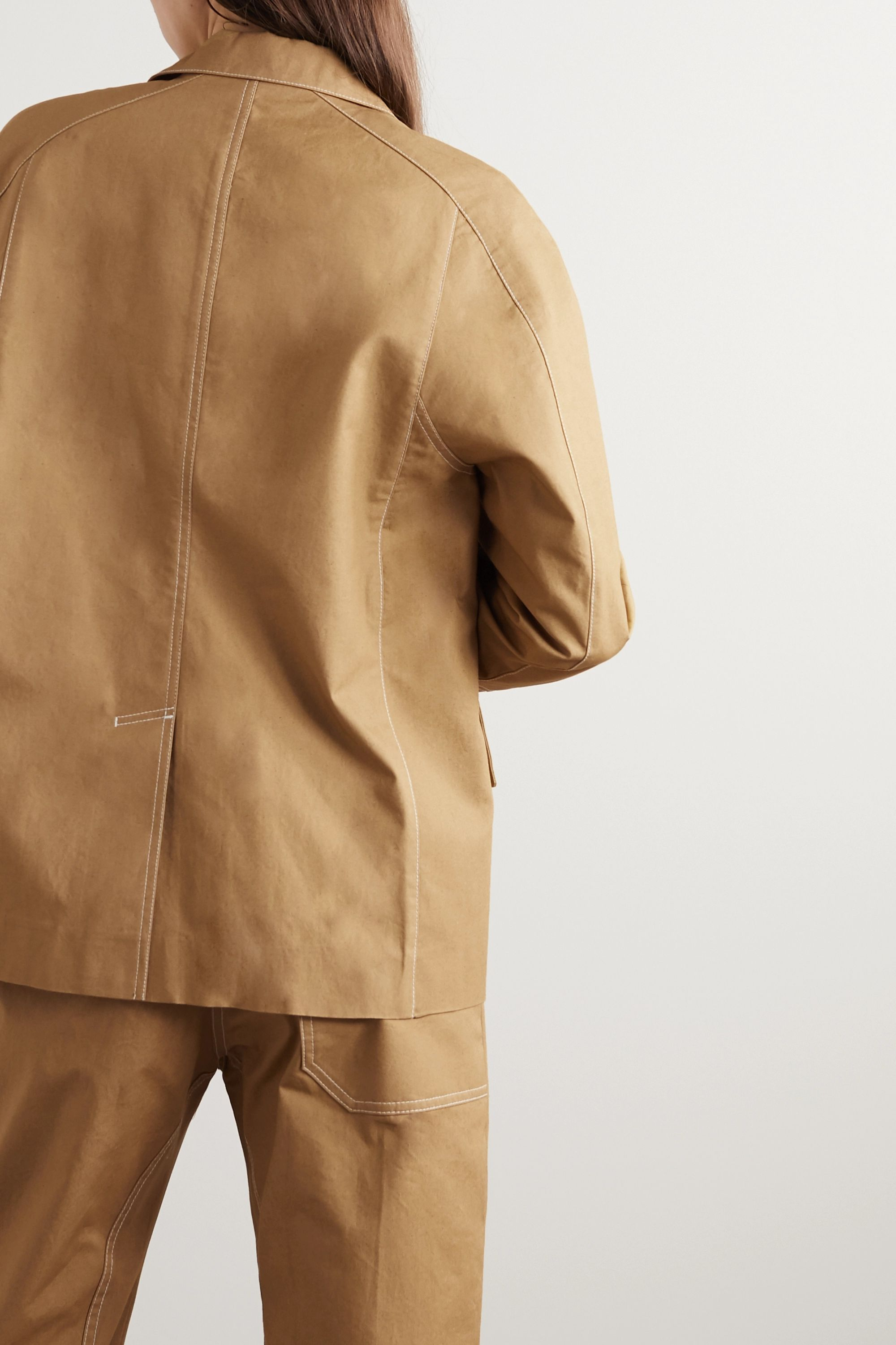 LOW CLASSIC Topstitched cotton jacket