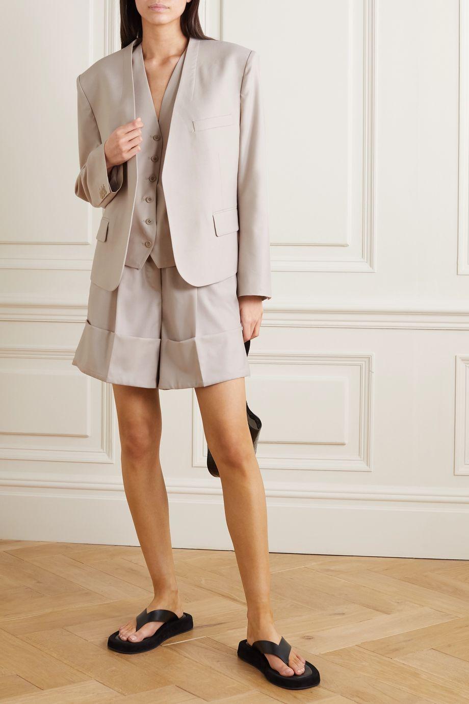 LOW CLASSIC Grain de poudre wool blazer and vest set