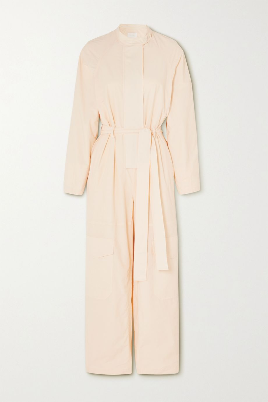 LOW CLASSIC Belted shell jumpsuit