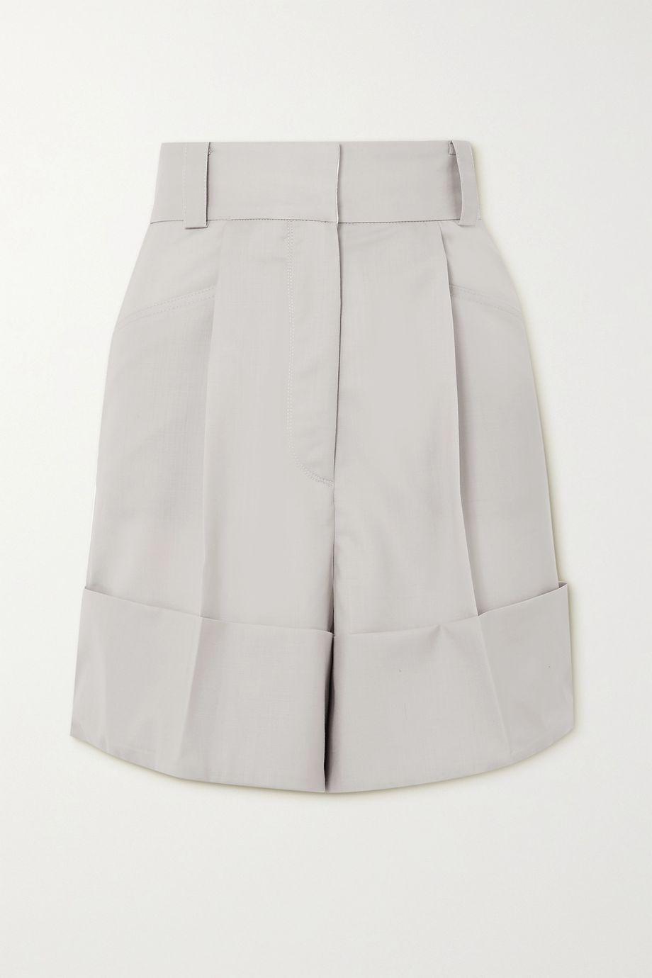 LOW CLASSIC Grain de poudre wool shorts