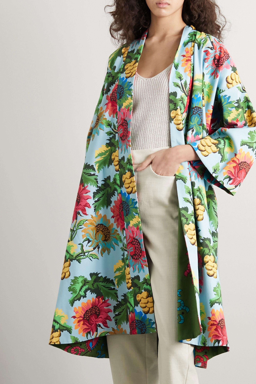 RIANNA + NINA Editha reversible printed cotton-blend piqué coat
