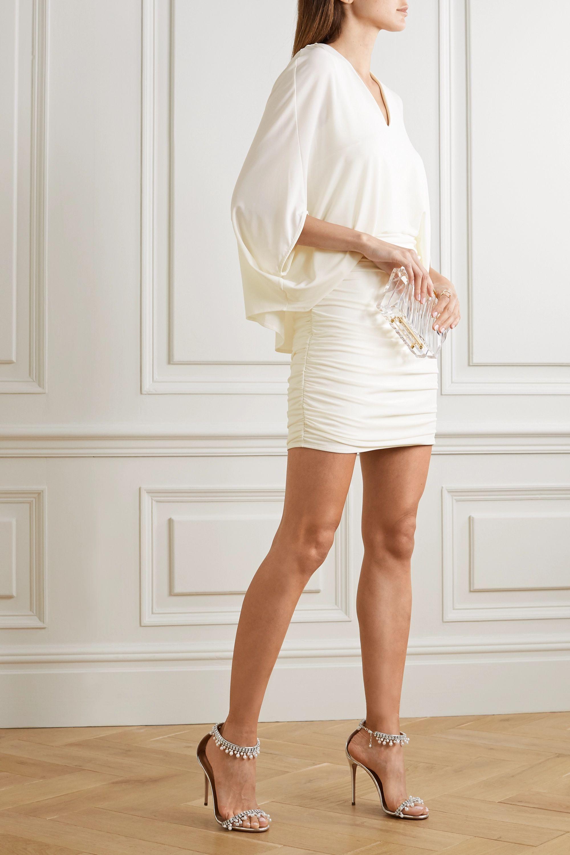 Halston Ruched stretch-jersey mini dress