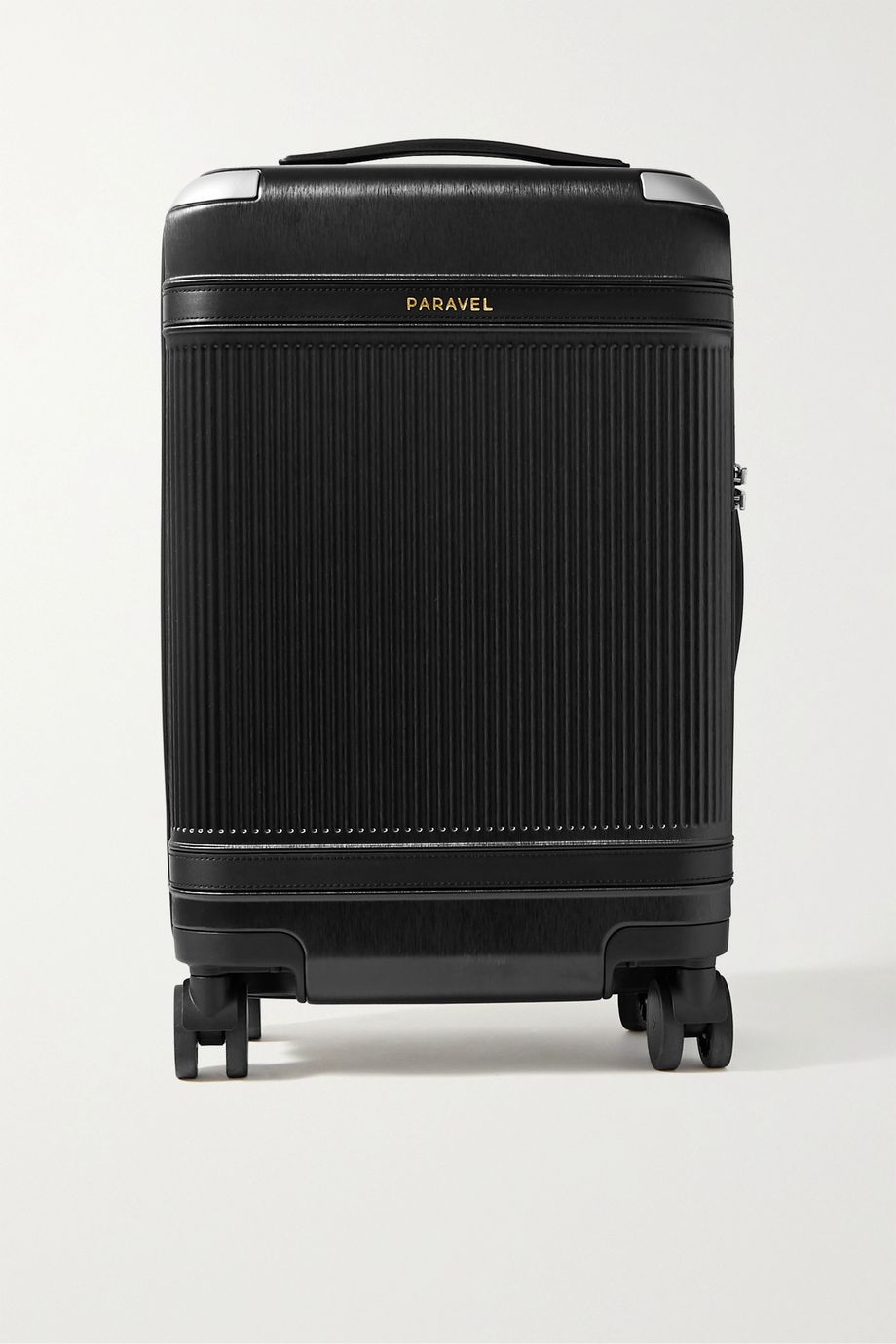Paravel Aviator faux leather-trimmed hardshell suitcase